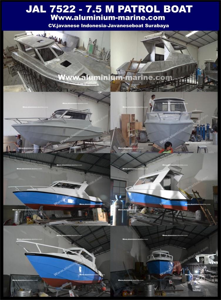 Kapal Aluminium 7.5 Meter