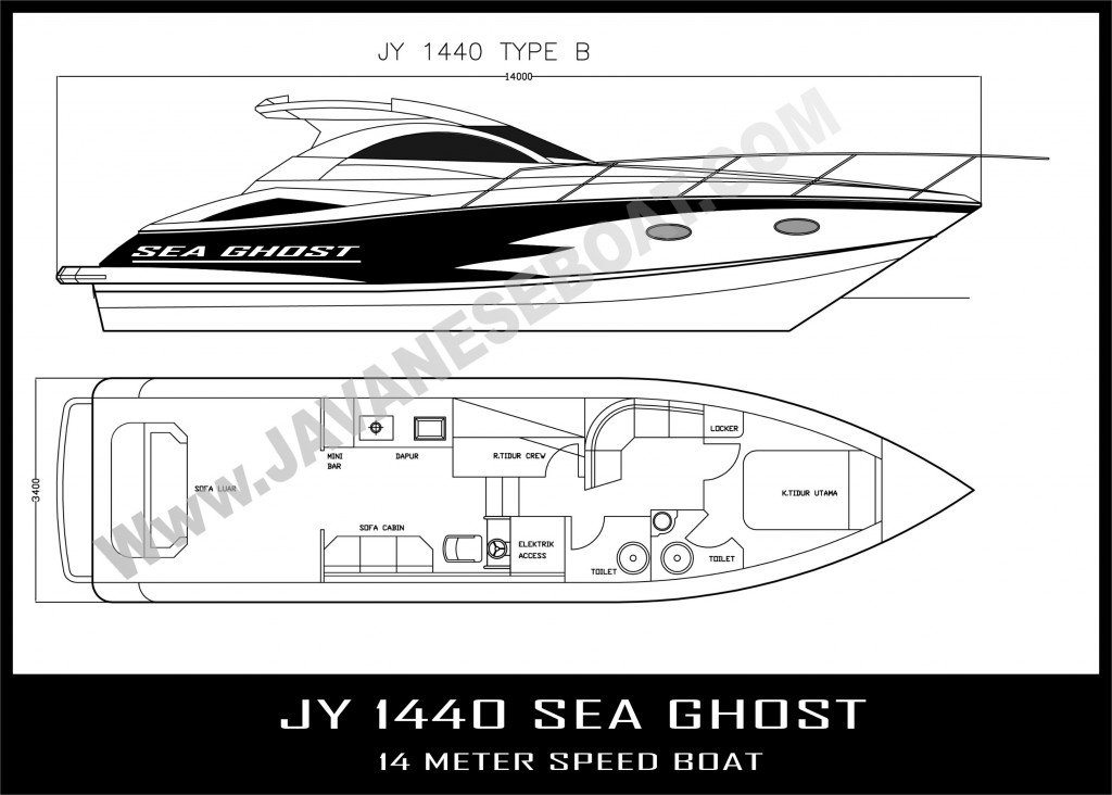 JY 1440 SEA GHOST BLACK